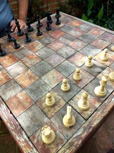 hotel villa lobos - mesa de xadrez - área de lazer